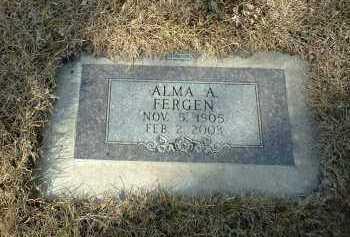 FERGEN, ALMA - Hutchinson County, South Dakota | ALMA FERGEN - South Dakota Gravestone Photos