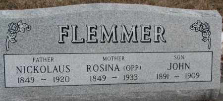 FLEMMER, NICKOLAUS - Hutchinson County, South Dakota | NICKOLAUS FLEMMER - South Dakota Gravestone Photos