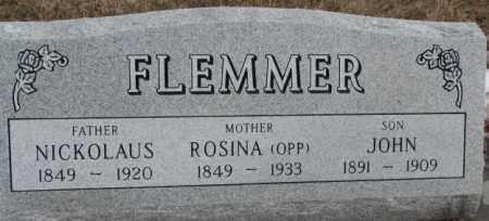 OPP FLEMMER, ROSINA - Hutchinson County, South Dakota | ROSINA OPP FLEMMER - South Dakota Gravestone Photos