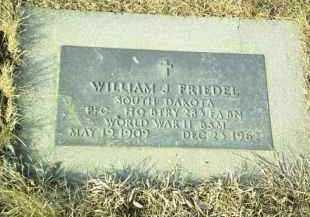 FRIEDEL, WILLIAM - Hutchinson County, South Dakota | WILLIAM FRIEDEL - South Dakota Gravestone Photos