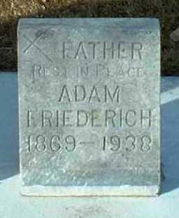 FRIEDERICH, ADAM - Hutchinson County, South Dakota | ADAM FRIEDERICH - South Dakota Gravestone Photos