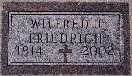 FRIEDRICH, WILFRED J. - Hutchinson County, South Dakota | WILFRED J. FRIEDRICH - South Dakota Gravestone Photos