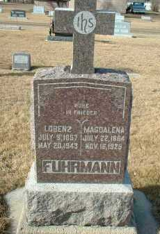 FUHRMANN, MAGDALENA - Hutchinson County, South Dakota | MAGDALENA FUHRMANN - South Dakota Gravestone Photos