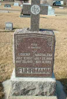 FUHRMANN, LORENZ - Hutchinson County, South Dakota | LORENZ FUHRMANN - South Dakota Gravestone Photos