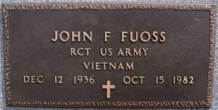 FUOSS, JOHN F (VIETNAM) - Hutchinson County, South Dakota   JOHN F (VIETNAM) FUOSS - South Dakota Gravestone Photos