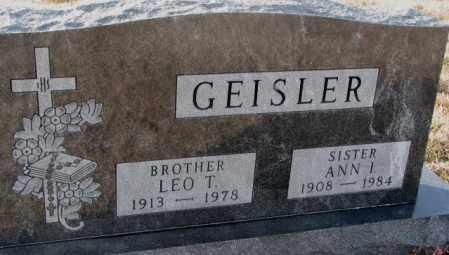 GEISLER, ANN I. - Hutchinson County, South Dakota | ANN I. GEISLER - South Dakota Gravestone Photos