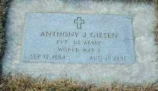GIESEN, ANTHONY - Hutchinson County, South Dakota | ANTHONY GIESEN - South Dakota Gravestone Photos
