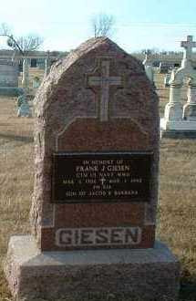GIESEN, FRANK - Hutchinson County, South Dakota   FRANK GIESEN - South Dakota Gravestone Photos