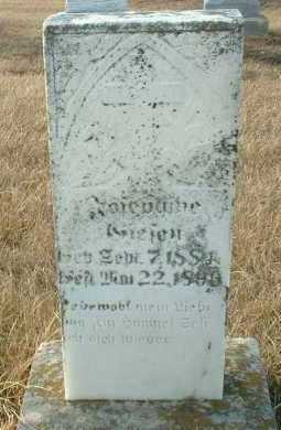 GIESEN, JOSEPHINE - Hutchinson County, South Dakota   JOSEPHINE GIESEN - South Dakota Gravestone Photos