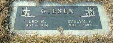 GIESEN, LEO - Hutchinson County, South Dakota | LEO GIESEN - South Dakota Gravestone Photos