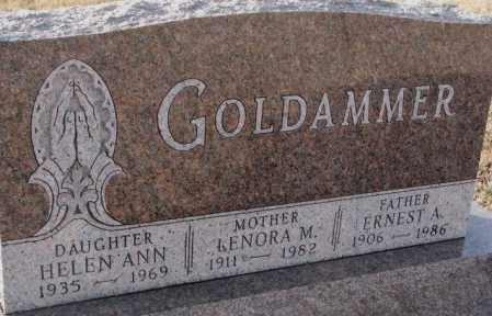 GOLDAMMER, LENORA M. - Hutchinson County, South Dakota | LENORA M. GOLDAMMER - South Dakota Gravestone Photos