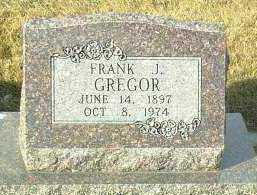 GREGOR, FRANK - Hutchinson County, South Dakota | FRANK GREGOR - South Dakota Gravestone Photos