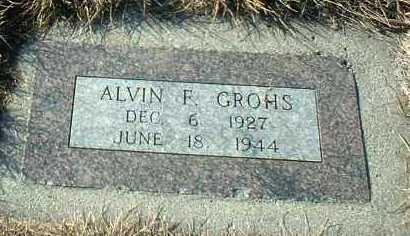 GROHS, ALVIN - Hutchinson County, South Dakota   ALVIN GROHS - South Dakota Gravestone Photos