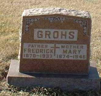 GROHS, FREDRICK - Hutchinson County, South Dakota   FREDRICK GROHS - South Dakota Gravestone Photos
