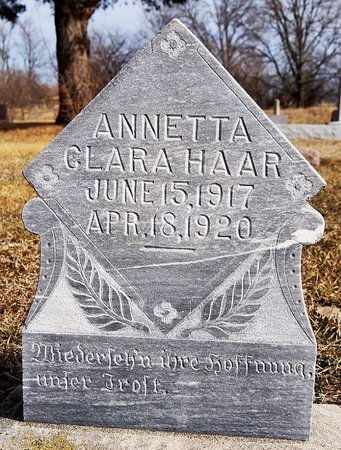HAAR, ANNETTA CLARA - Hutchinson County, South Dakota | ANNETTA CLARA HAAR - South Dakota Gravestone Photos