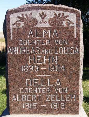 ZELLER, DELLA - Hutchinson County, South Dakota | DELLA ZELLER - South Dakota Gravestone Photos