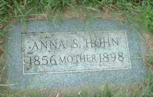 HOHN, ANNA S. - Hutchinson County, South Dakota   ANNA S. HOHN - South Dakota Gravestone Photos