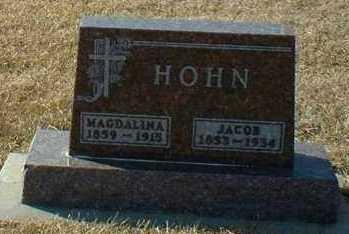 HOHN, JACOB - Hutchinson County, South Dakota | JACOB HOHN - South Dakota Gravestone Photos