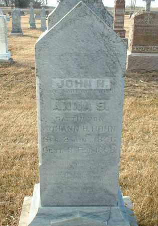 HOHN, JOHANN - Hutchinson County, South Dakota | JOHANN HOHN - South Dakota Gravestone Photos