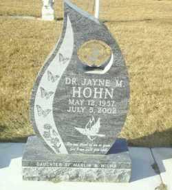 HOHN, JAYNE - Hutchinson County, South Dakota | JAYNE HOHN - South Dakota Gravestone Photos