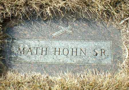 HOHN, MATH SR. - Hutchinson County, South Dakota | MATH SR. HOHN - South Dakota Gravestone Photos