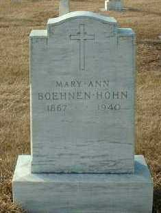 HOHN, MARY - Hutchinson County, South Dakota | MARY HOHN - South Dakota Gravestone Photos