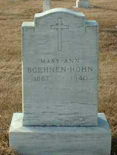 BOEHNEN HOHN, MARY - Hutchinson County, South Dakota | MARY BOEHNEN HOHN - South Dakota Gravestone Photos