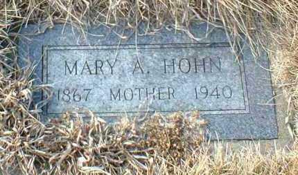 HOHN, MARY - Hutchinson County, South Dakota   MARY HOHN - South Dakota Gravestone Photos