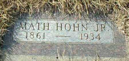 HOHN, MATH JR. - Hutchinson County, South Dakota   MATH JR. HOHN - South Dakota Gravestone Photos