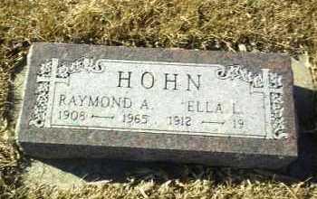 HOHN, RAYMOND - Hutchinson County, South Dakota   RAYMOND HOHN - South Dakota Gravestone Photos