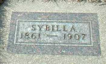 HOHN, SYBILLA - Hutchinson County, South Dakota | SYBILLA HOHN - South Dakota Gravestone Photos