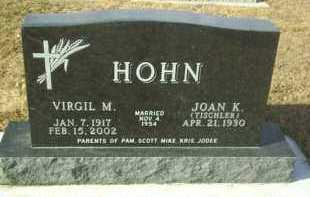 TISCHLER HOHN, JOAN K. - Hutchinson County, South Dakota   JOAN K. TISCHLER HOHN - South Dakota Gravestone Photos