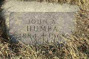 HUMPA, JOHN - Hutchinson County, South Dakota | JOHN HUMPA - South Dakota Gravestone Photos