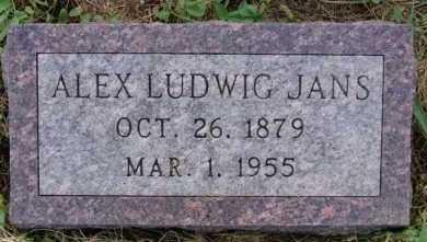 JANS, ALEX LUDWIG - Hutchinson County, South Dakota | ALEX LUDWIG JANS - South Dakota Gravestone Photos