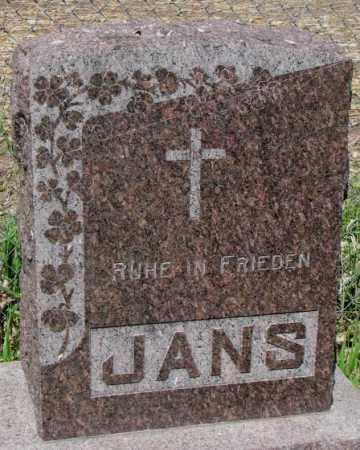 JANS, FAMILY PLOT MARKER - Hutchinson County, South Dakota | FAMILY PLOT MARKER JANS - South Dakota Gravestone Photos