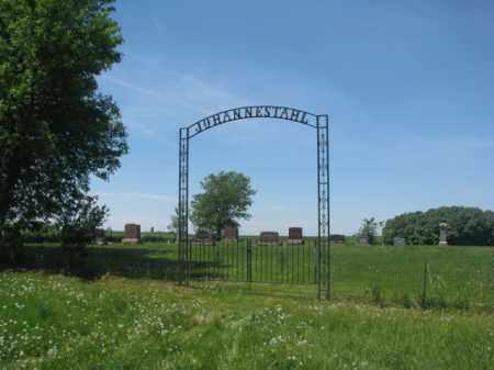 *JOHANNESTAHL, FRONT ENTRANCE & NOTES - Hutchinson County, South Dakota | FRONT ENTRANCE & NOTES *JOHANNESTAHL - South Dakota Gravestone Photos