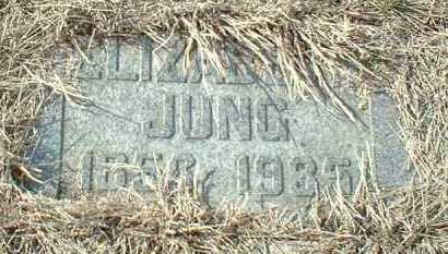 JUNG, ELIZABETH - Hutchinson County, South Dakota | ELIZABETH JUNG - South Dakota Gravestone Photos