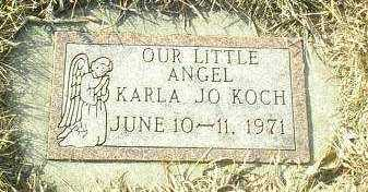 KOCH, KARLA - Hutchinson County, South Dakota   KARLA KOCH - South Dakota Gravestone Photos