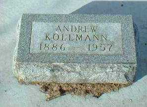KOLLMANN, ANDREW - Hutchinson County, South Dakota | ANDREW KOLLMANN - South Dakota Gravestone Photos
