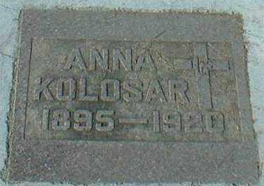 KOLOSAR, ANNA - Hutchinson County, South Dakota | ANNA KOLOSAR - South Dakota Gravestone Photos
