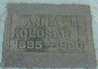 KOLOSAR, ANNA - Hutchinson County, South Dakota | ANNA KOLOSAR - South Dakota Gravestone Photos