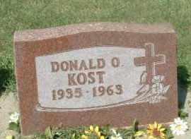KOST, DONALD O. - Hutchinson County, South Dakota | DONALD O. KOST - South Dakota Gravestone Photos