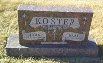 KOSTER, JOHN - Hutchinson County, South Dakota | JOHN KOSTER - South Dakota Gravestone Photos