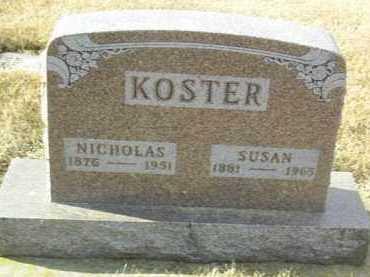 KOSTER, NICHOLAS - Hutchinson County, South Dakota | NICHOLAS KOSTER - South Dakota Gravestone Photos