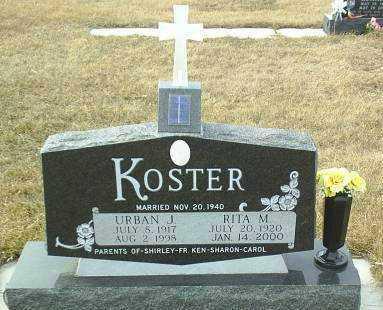 KOSTER, URBAN - Hutchinson County, South Dakota | URBAN KOSTER - South Dakota Gravestone Photos