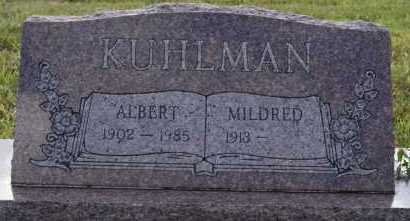 KUHLMAN, MILDRED - Hutchinson County, South Dakota | MILDRED KUHLMAN - South Dakota Gravestone Photos