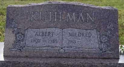 KUHLMAN, ALBERT - Hutchinson County, South Dakota | ALBERT KUHLMAN - South Dakota Gravestone Photos