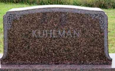 KUHLMAN, FAMILY MARKER - Hutchinson County, South Dakota | FAMILY MARKER KUHLMAN - South Dakota Gravestone Photos