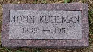 KUHLMAN, JOHN - Hutchinson County, South Dakota | JOHN KUHLMAN - South Dakota Gravestone Photos
