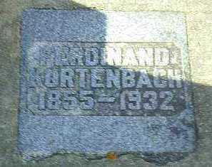 KURTENBACH, FERDINAND - Hutchinson County, South Dakota | FERDINAND KURTENBACH - South Dakota Gravestone Photos